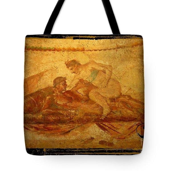 Erotic Art Of Pompeii Tote Bag by John Malone Halifax Photographer