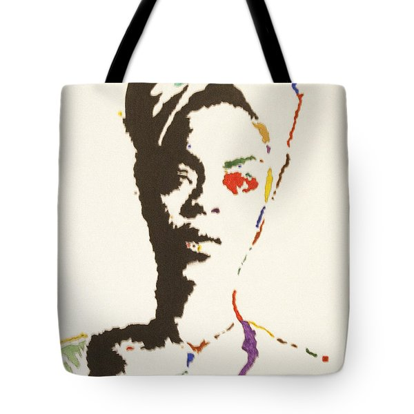 Tote Bag featuring the painting Erykah Badu by Stormm Bradshaw
