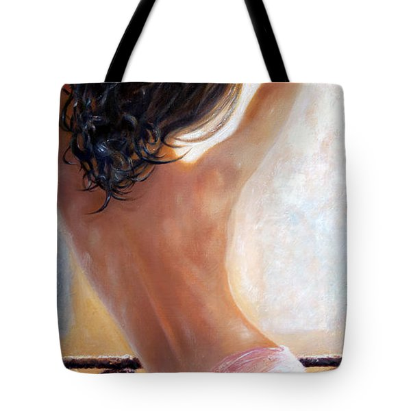Tote Bag featuring the painting Ephemeral by Michael Rock
