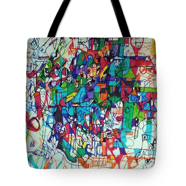 Escape From Hatred 1 Tote Bag by David Baruch Wolk