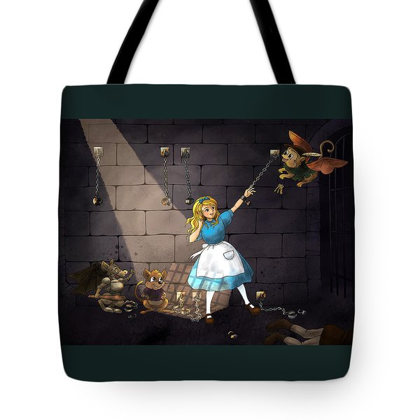 Tote Bag featuring the painting Escape by Reynold Jay