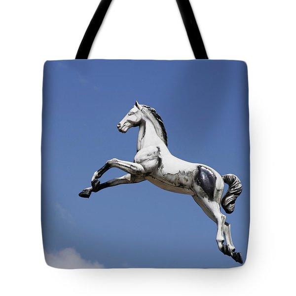 Escaped Carousel Horse Tote Bag