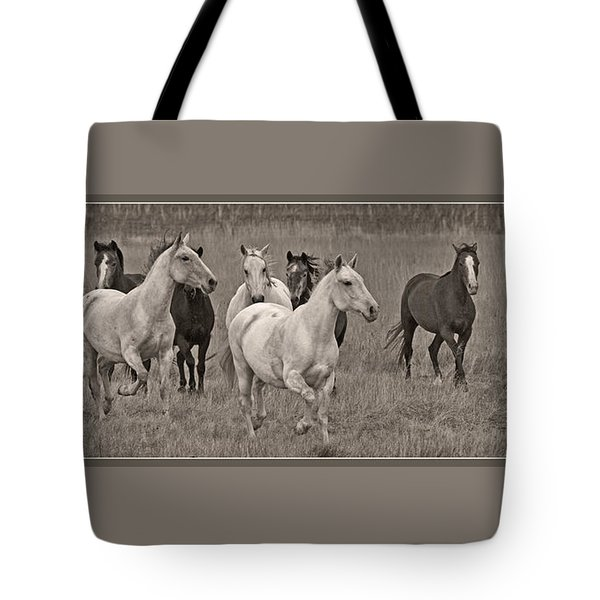 Tote Bag featuring the photograph Escapees From A Lineup D8056 by Wes and Dotty Weber
