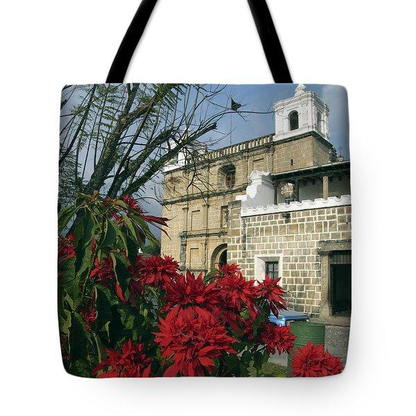 Escuela De Cristo Church Antigua Tote Bag by Kurt Van Wagner