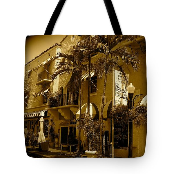 Espanola Way In Miami South Beach Tote Bag