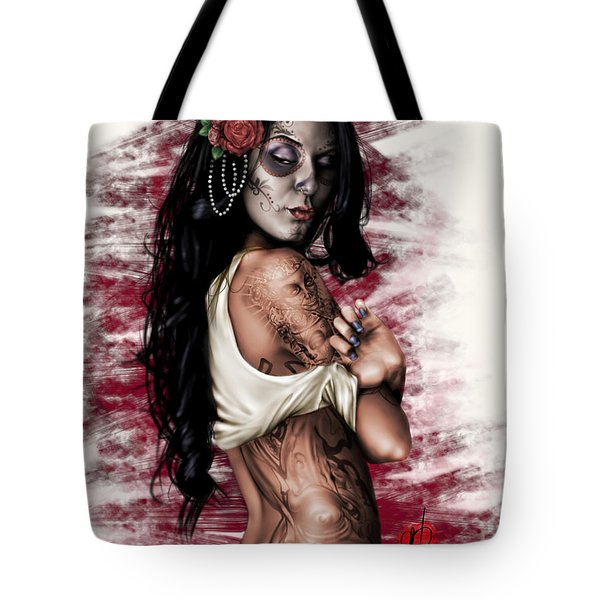 Tote Bag featuring the painting Esperanza Viva by Pete Tapang