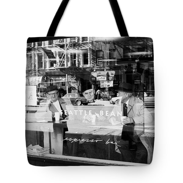 Tote Bag featuring the photograph Espresso Bar Ny by Dave Beckerman