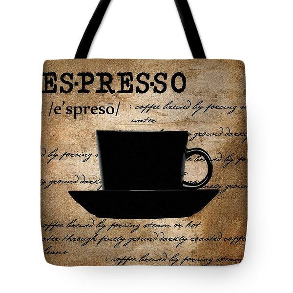 Espresso Madness Tote Bag by Lourry Legarde