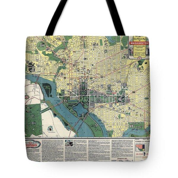 Esso Guide To Washington D.c. 1942 Tote Bag