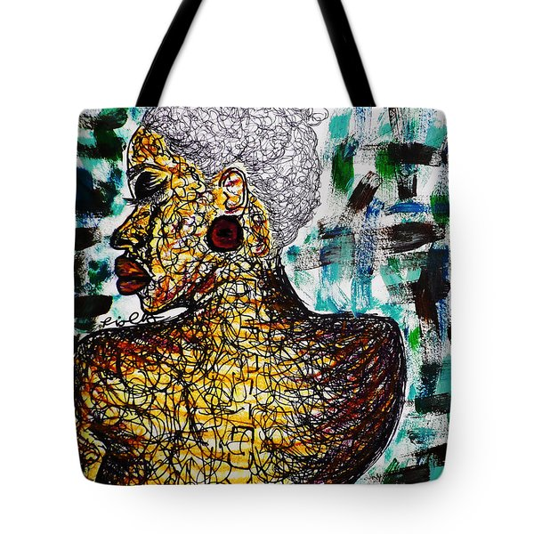 Tote Bag featuring the painting Etches by Tarra Louis-Charles