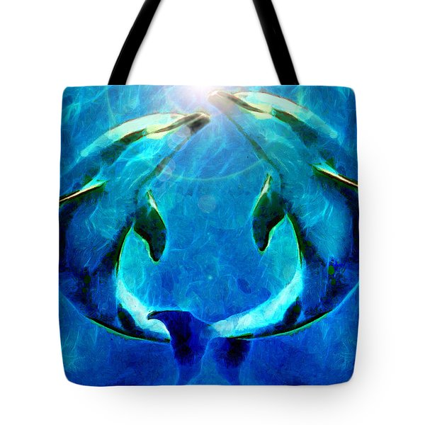 Eternal Dolphin Love Tote Bag