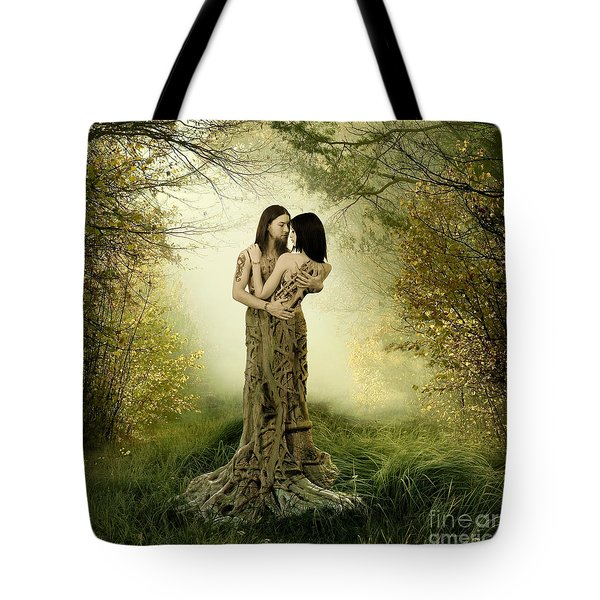 Eternal Embrace Tote Bag by Linda Lees