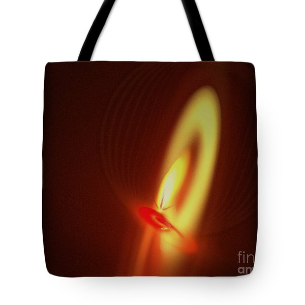 Tote Bag featuring the digital art Eternal Flame by Victoria Harrington