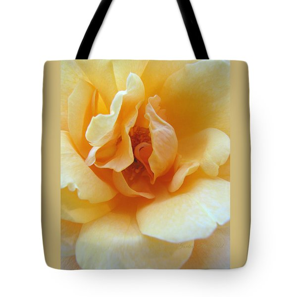 Lightness Of Being - Yellow Rose Macro -floral Art From The Garden Tote Bag