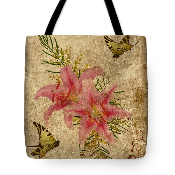 Eternal Love Message Tote Bag by Olga Hamilton