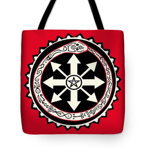 Tote Bag featuring the digital art Eternal Struggle Of Chaos by Vagabond Folk Art - Virginia Vivier
