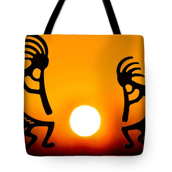 Eternity's Sunrise Tote Bag by Mitch Cat