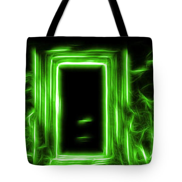 Ethereal Doorways Green Tote Bag