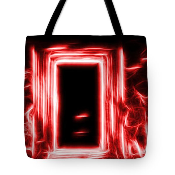Ethereal Doorways Red Tote Bag
