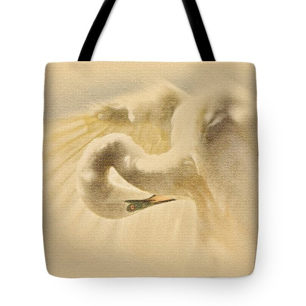 Tote Bag featuring the photograph Ethereal Egret by Ola Allen