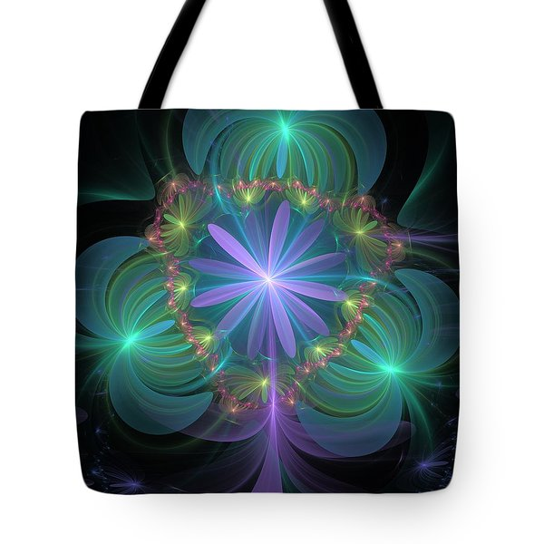 Ethereal Flower On Vacation Tote Bag