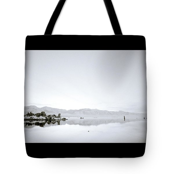 Ethereal Mono Lake Tote Bag by Shaun Higson