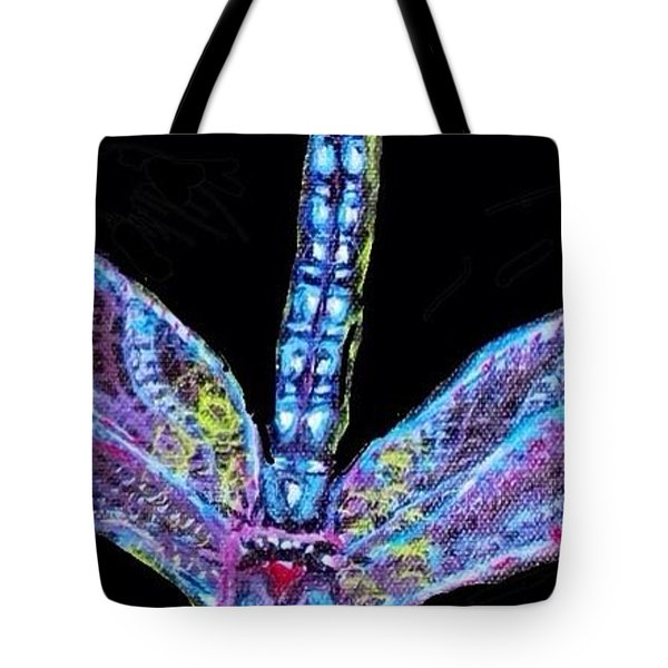 Ethereal Wings Of Blue Tote Bag