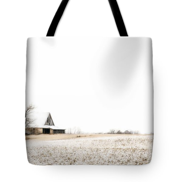 Ethereal Wintry Scene Tote Bag