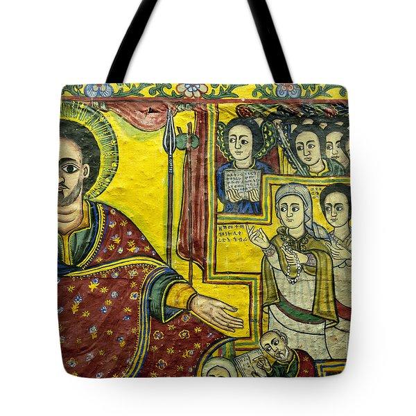 Ethiopian Church Paintings Tote Bag