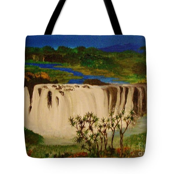 Ethiopian Nile Waterfall Tote Bag