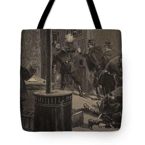 Etievant, The Anarchist Shoots Tote Bag