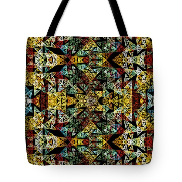 Etno Style Pattern Tote Bag by Klara Acel