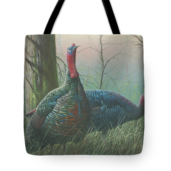 Tote Bag featuring the painting Etowah Drifters by Mike Brown