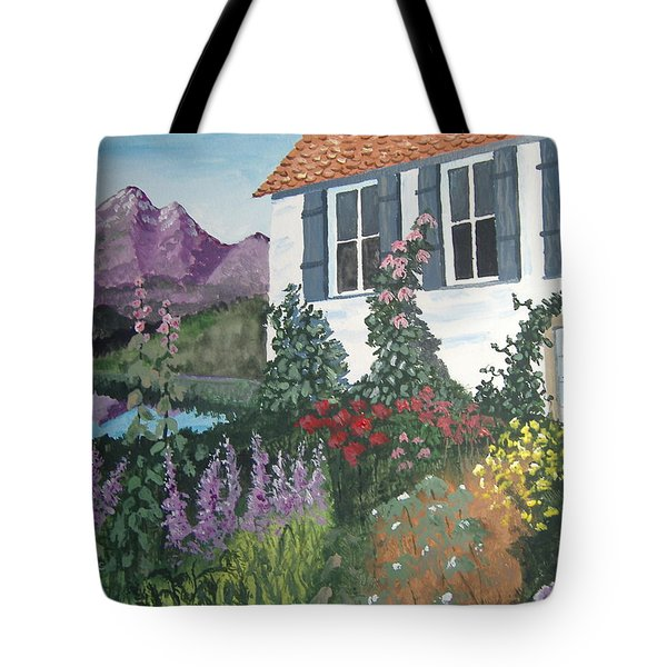 Tote Bag featuring the painting European Flower Garden by Norm Starks