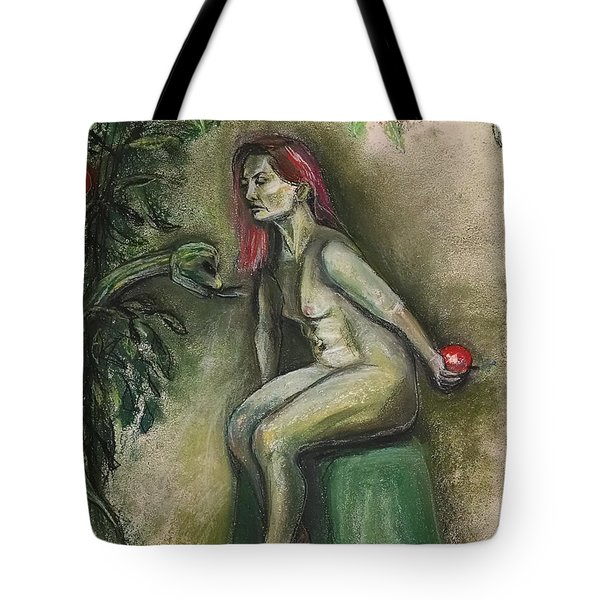 Tote Bag featuring the drawing Eve In The Garden  by Gabrielle Wilson-Sealy