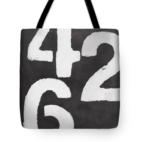 Even Numbers Tote Bag by Linda Woods