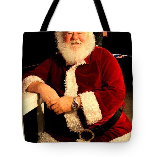 Even Santa Needs A Break Tote Bag by Kathy  White