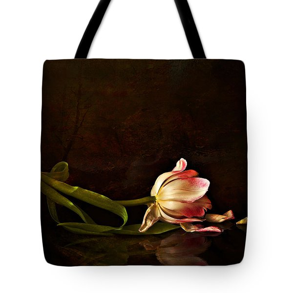 Even Though A Flower Fades Tote Bag by Theresa Tahara