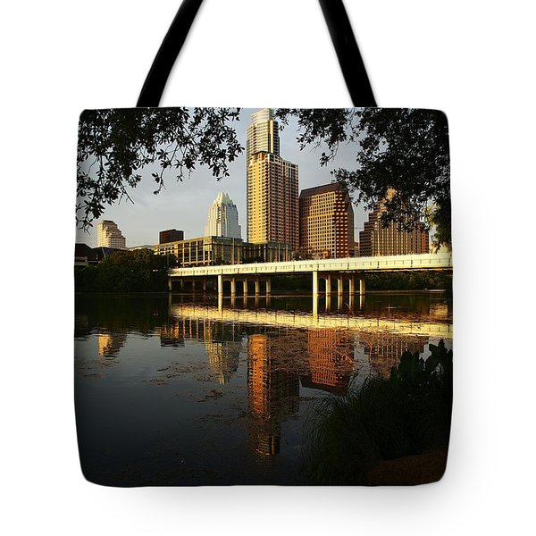 Evening Along The River Tote Bag