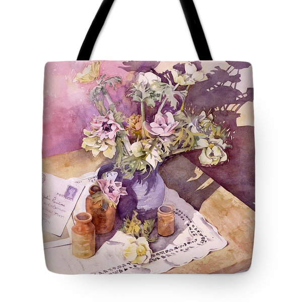 Evening Anemones Tote Bag by Julia Rowntree