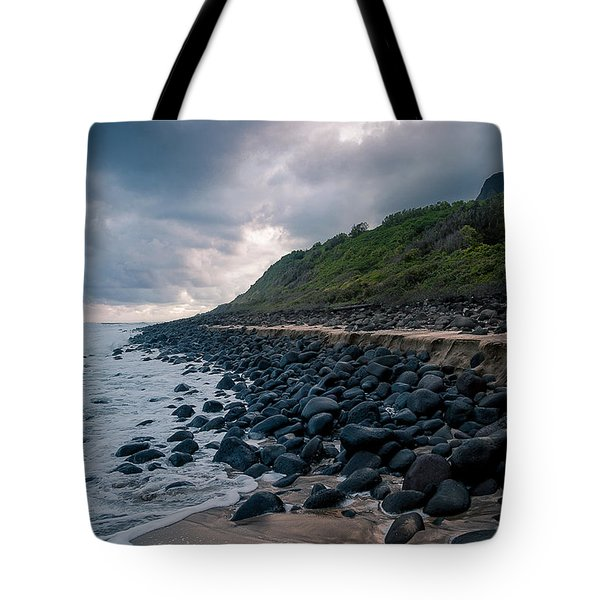 Evening Arrives At Kalalau 2 Tote Bag