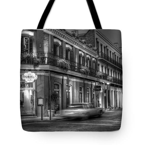 Evening At Muriels Bw Tote Bag