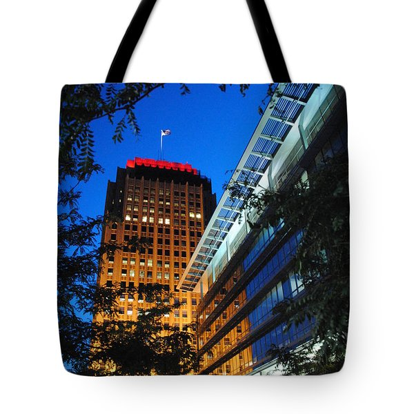 Evening At Ppl Plaza - Allentown Pa  Vertical Tote Bag