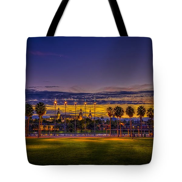 Evening At The Park Tote Bag by Marvin Spates