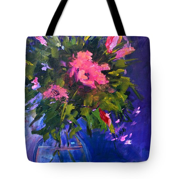 Evening Blooms Tote Bag