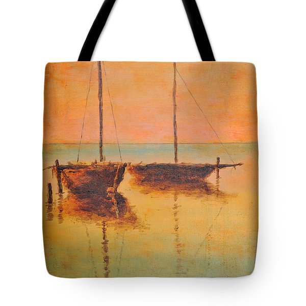 Evening Boats Tote Bag by Martin Capek