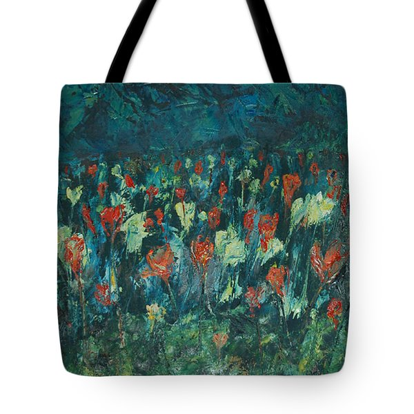 Tote Bag featuring the painting Evening Buds by Mini Arora