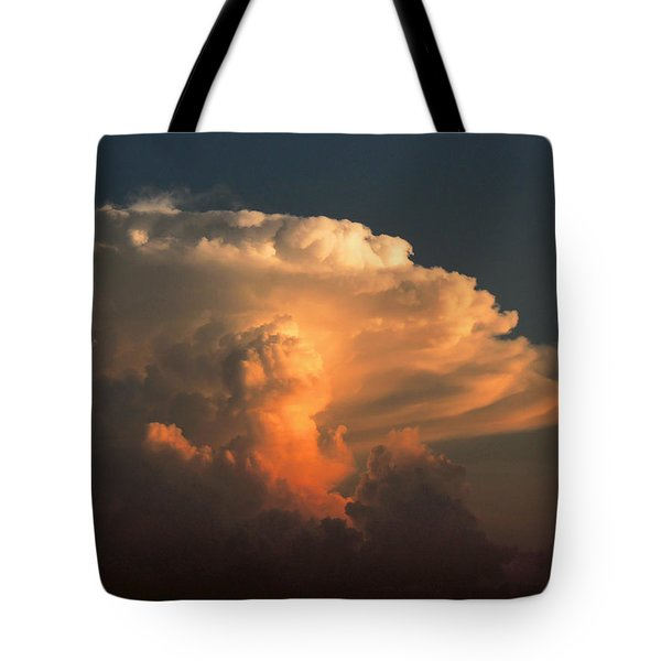 Tote Bag featuring the photograph Evening Buildup by Charlotte Schafer
