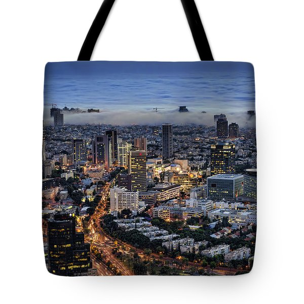 Evening City Lights Tote Bag