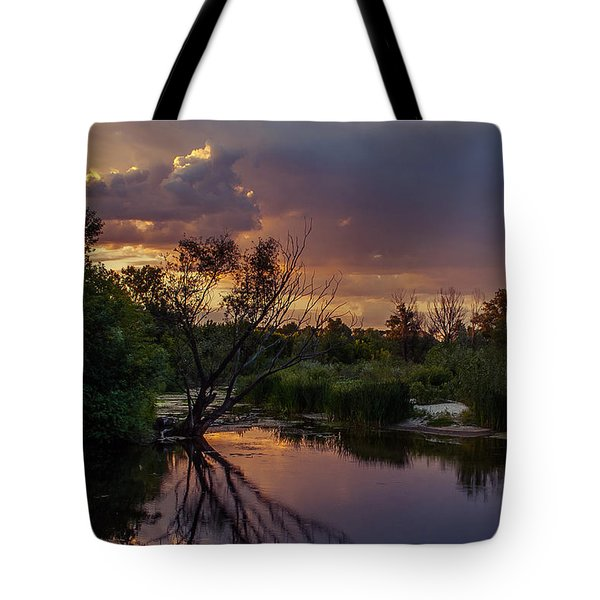 Tote Bag featuring the photograph Evening Colors by Dmytro Korol